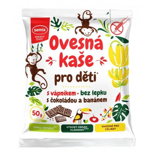 Ovesná kaše pro děti s čokoládou a banánem 50 g
