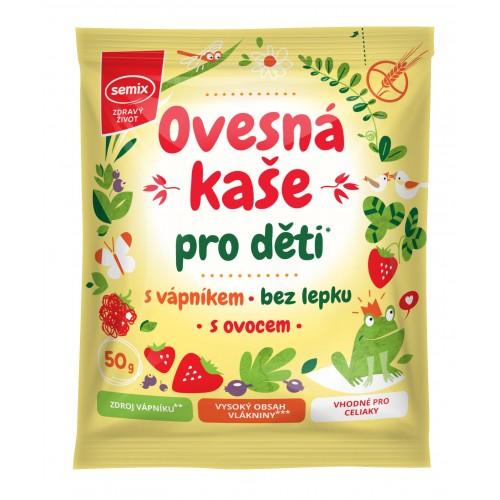 Ovesná kaše pro děti s vápníkem a ovocem 50 g