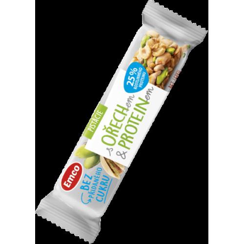 Emco tyčinka s ořechem a proteinem - pistácie 35 g