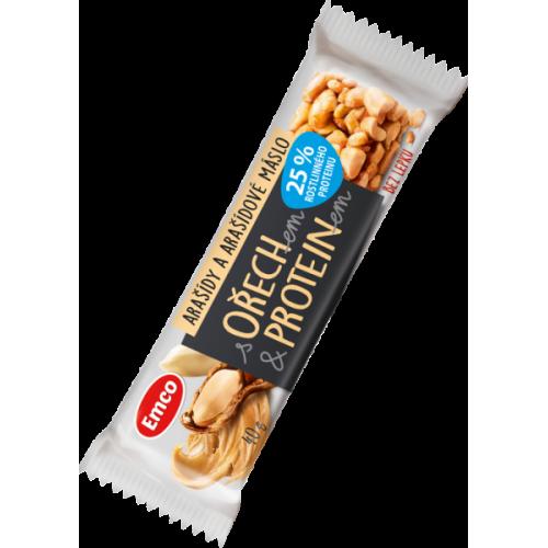 Emco tyčinka s ořechem a proteinem - arašídy 40 g