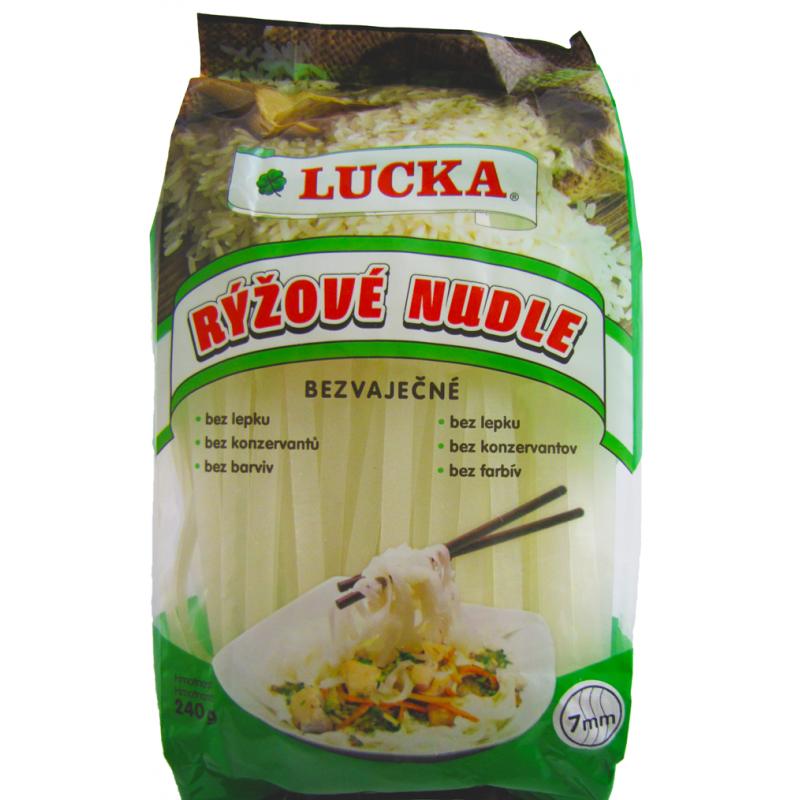 Rýžové těstoviny LUCKA nudle 7 mm, 240 g