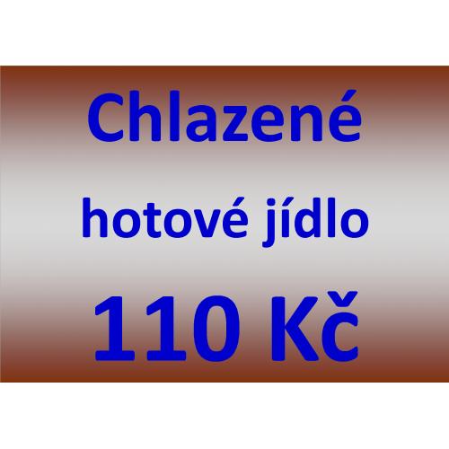Chlazené hotové jídlo 110 Kč - spotřeba do 10 dnů