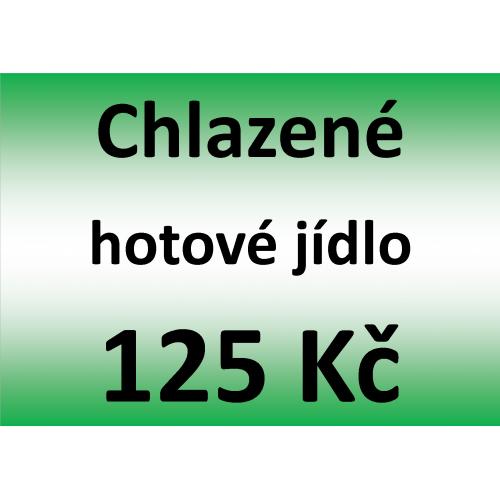 Chlazené hotové jídlo 125 Kč - spotřeba do 10 dnů